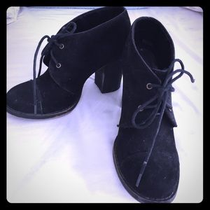 Black Suede Laced Booties